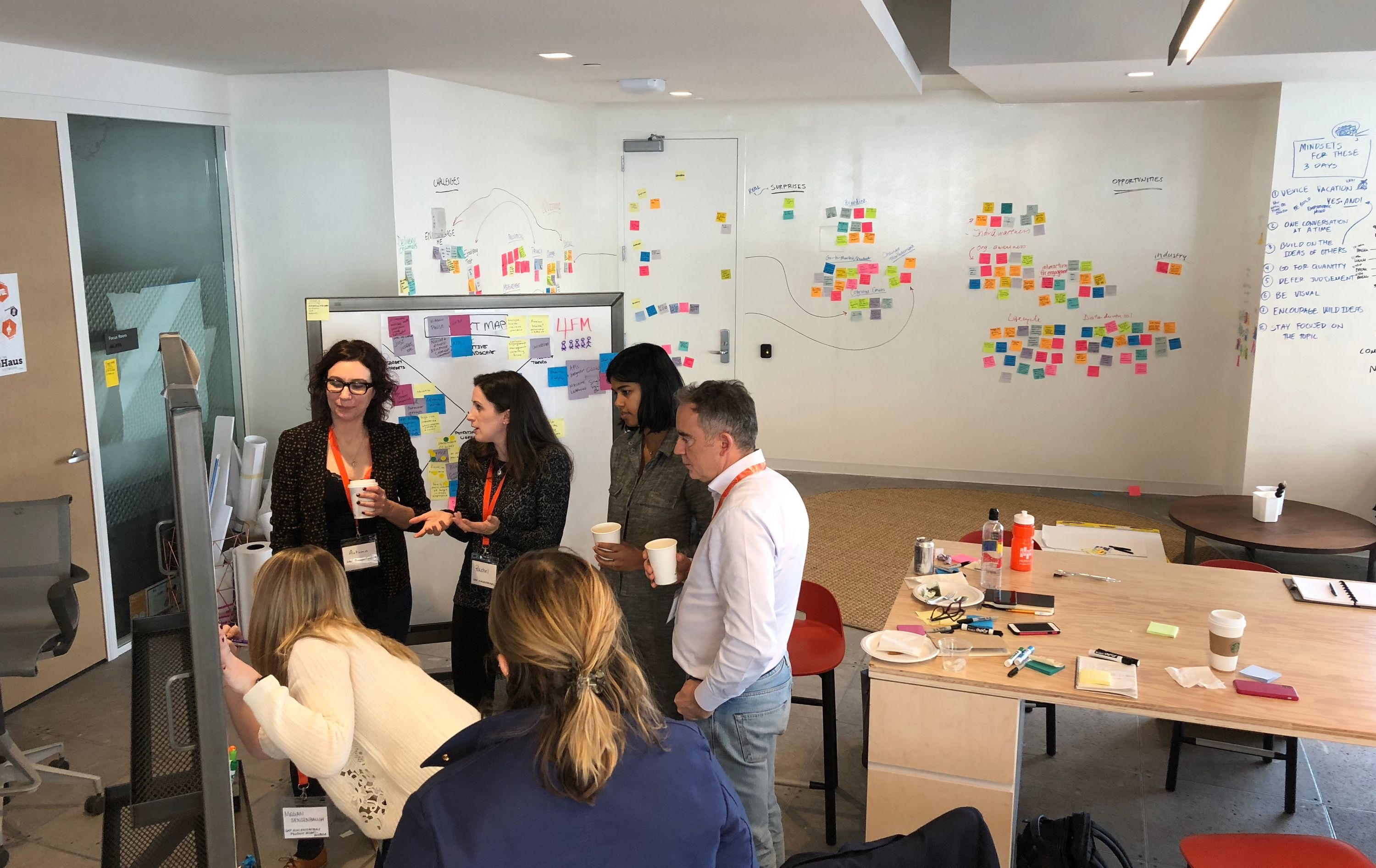 Workshopping concepts with stakeholders