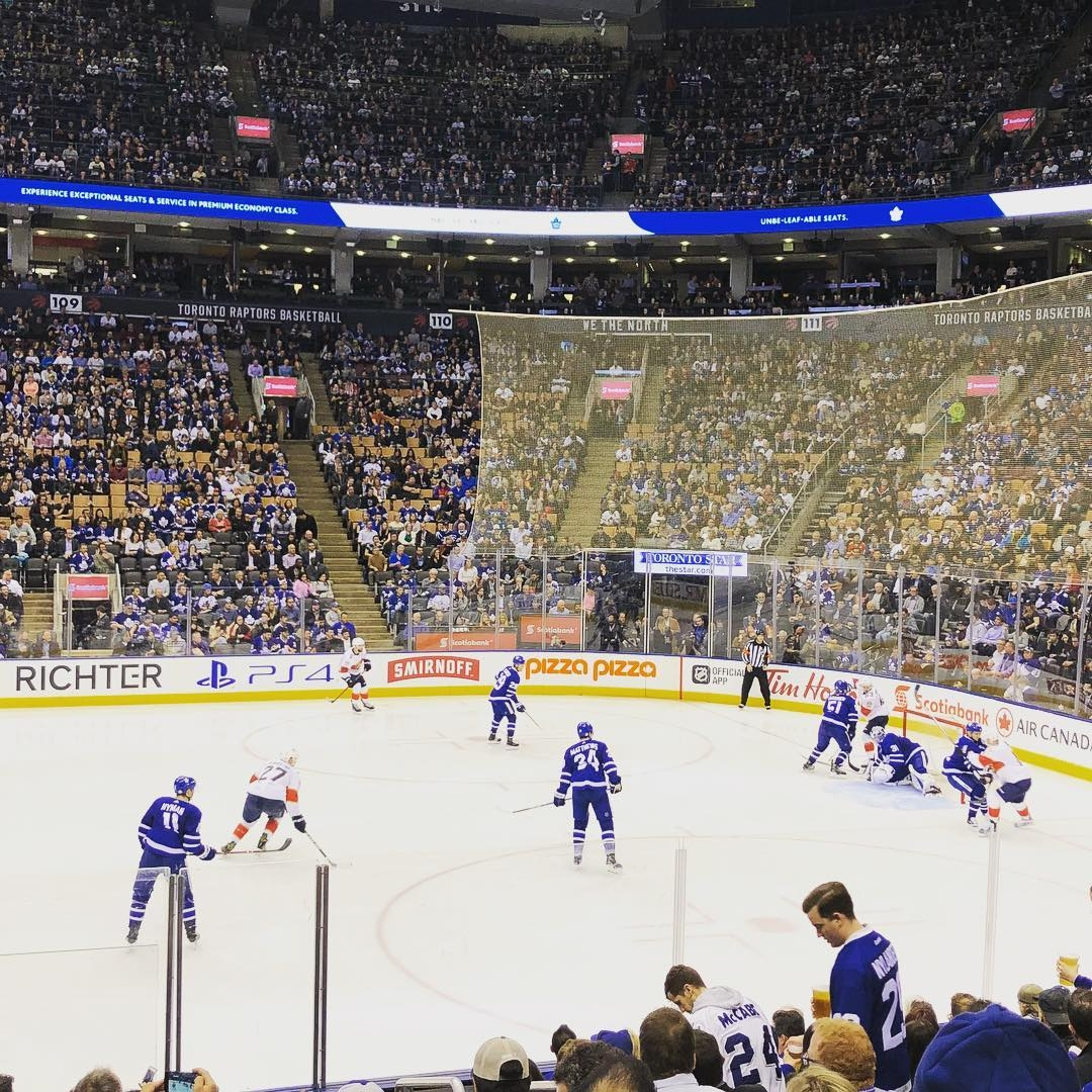 we saw hockey