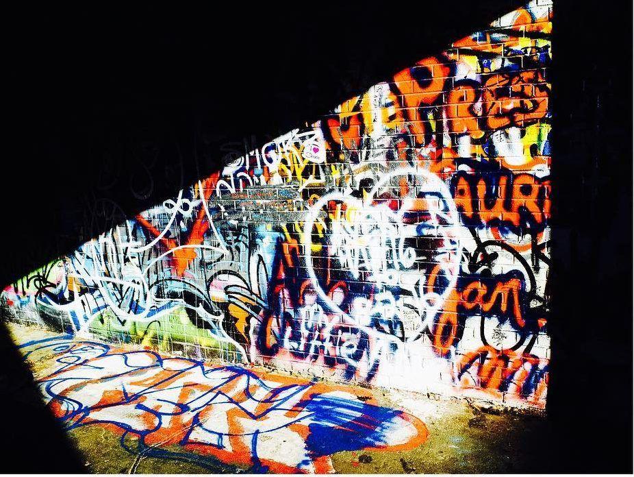 Graffiti in Graffiti Alley. Shot with an iPhone 6 by Jay Sennett