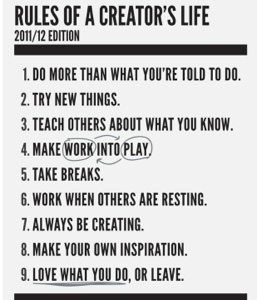 rules of a creators life