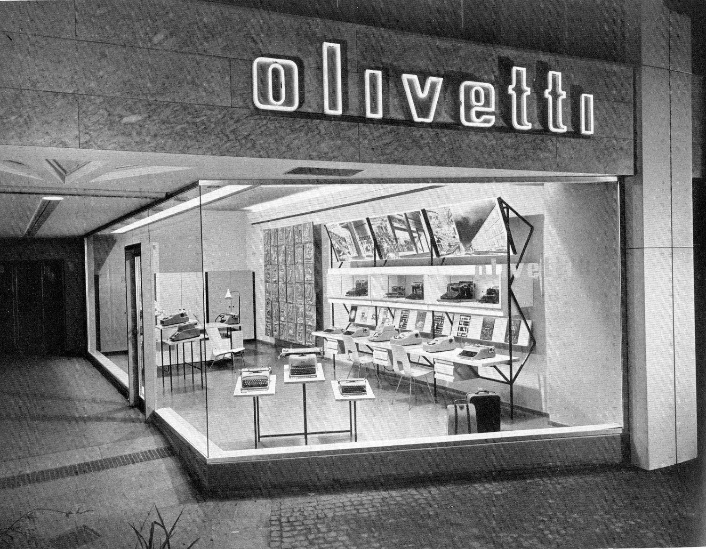 Olivetti showroom in switzerland 1957
