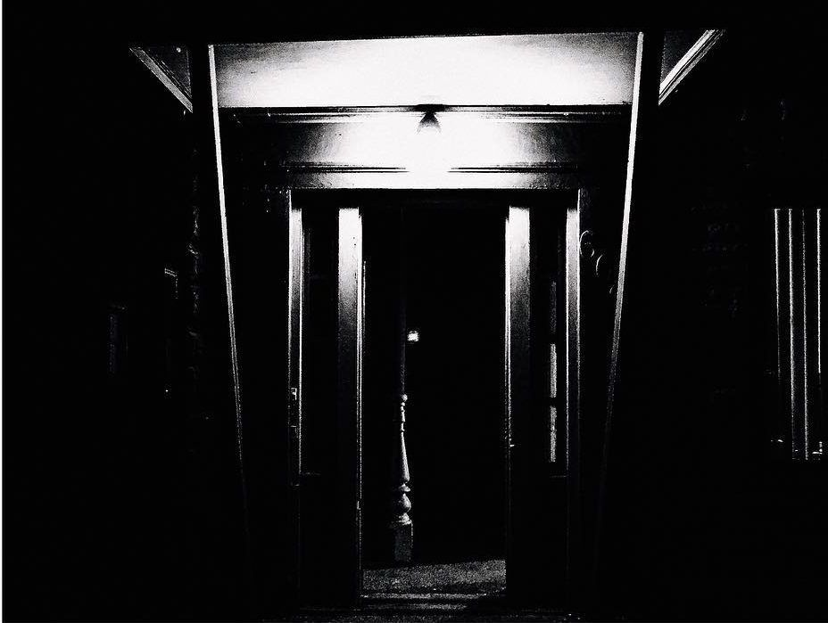 A darkened doorway