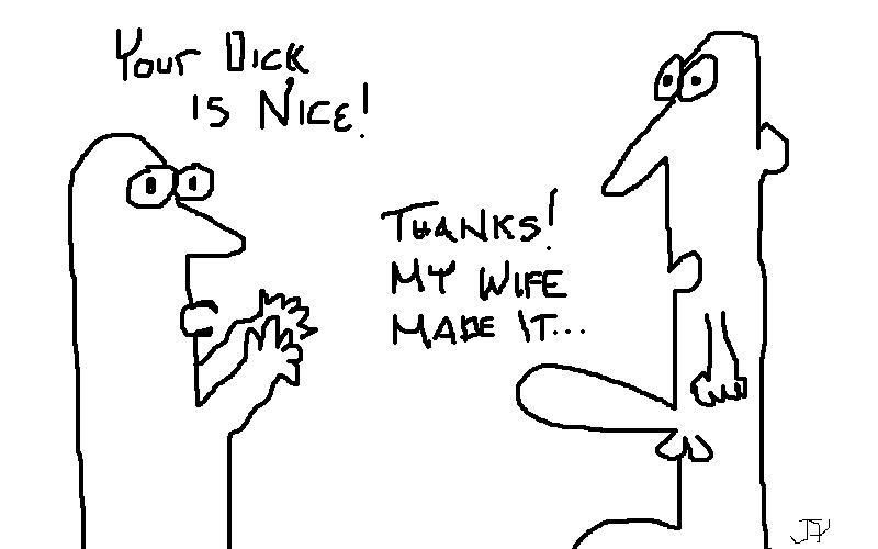 My wife made my dick