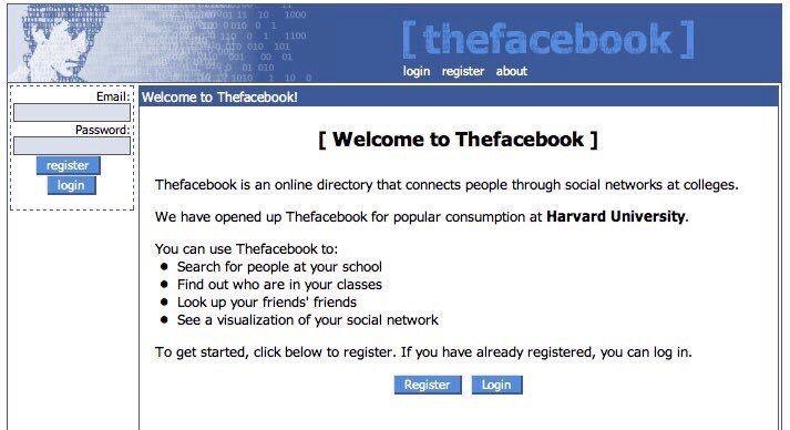Facebook, 2004