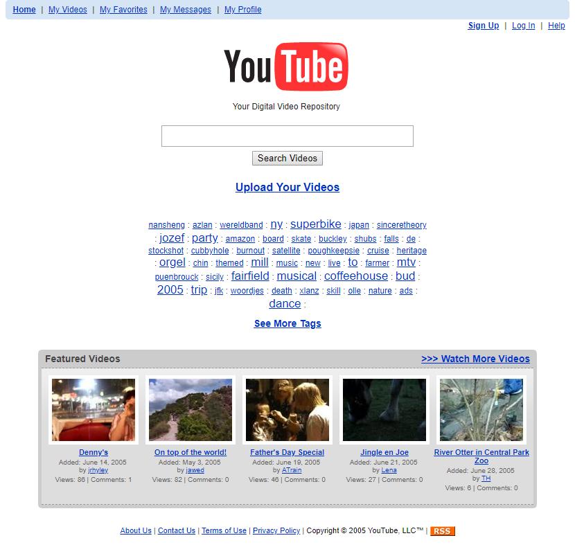 YouTube, 2005