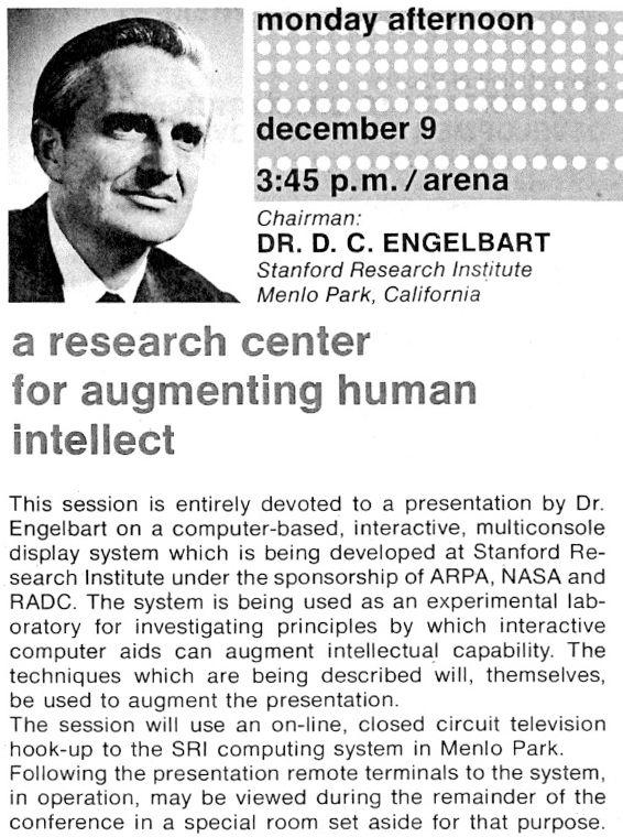 Ursprüngliche Ankündigung der Demo 1968, Christina Engelbart und Bootstrap Institute