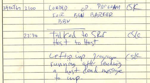 Erstes ARPANET IMP-Protokoll vom 29ten Oktober 1969