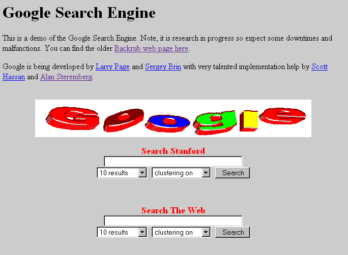 Google Search, 1997