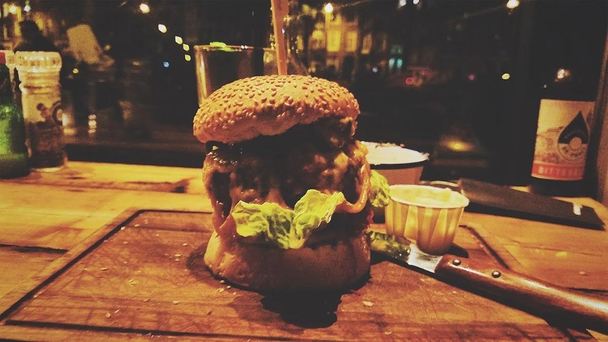 Alright, ya giant burger. Let's dance.