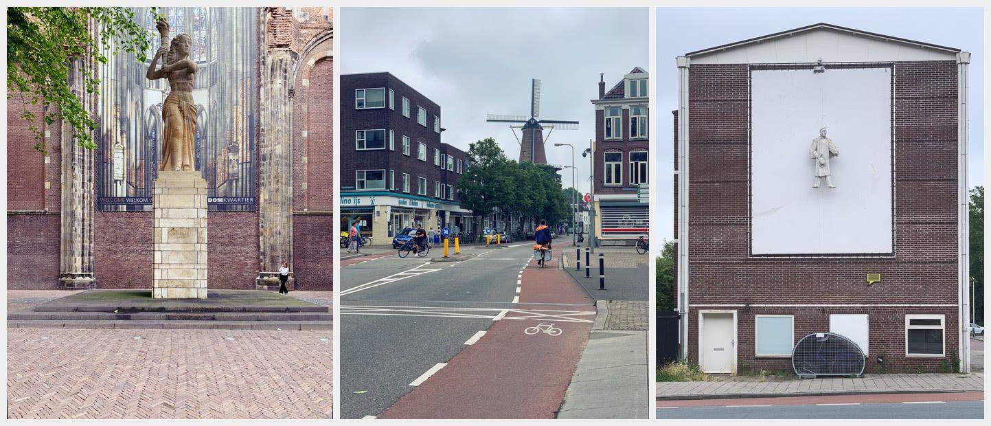 Utrecht sculptures and a windmill