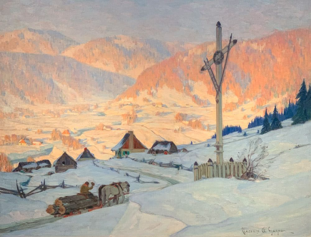 Clarence Gagnon: The Train, Winter