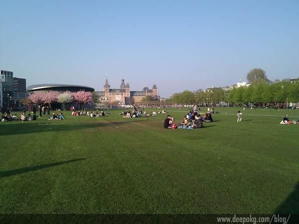 Picnic at the park outside Concertgebouw