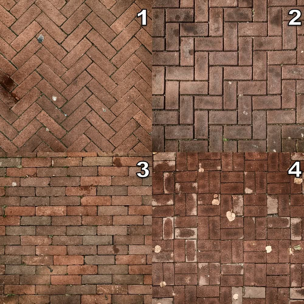 The four major brick patterns