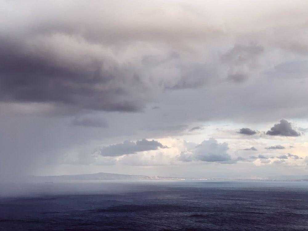 Rain drifting towards us