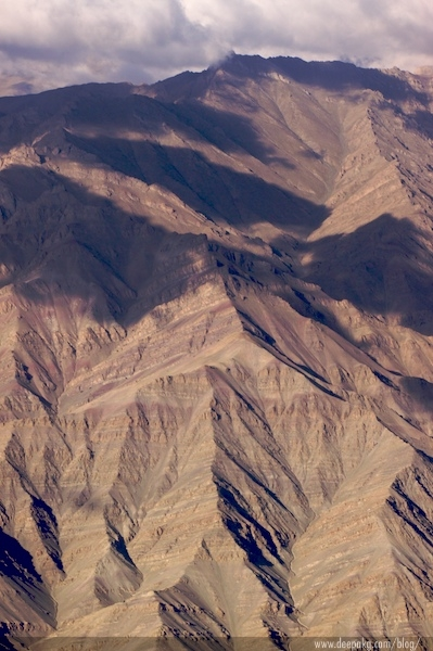 Just before landing in Leh