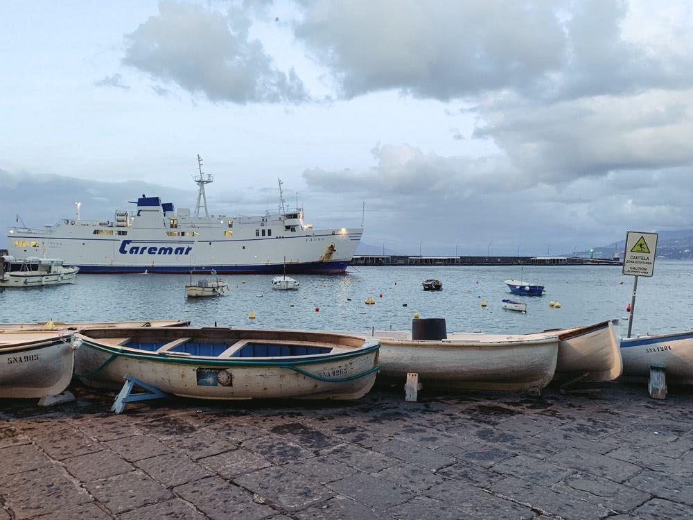 Boats at Capri harbour