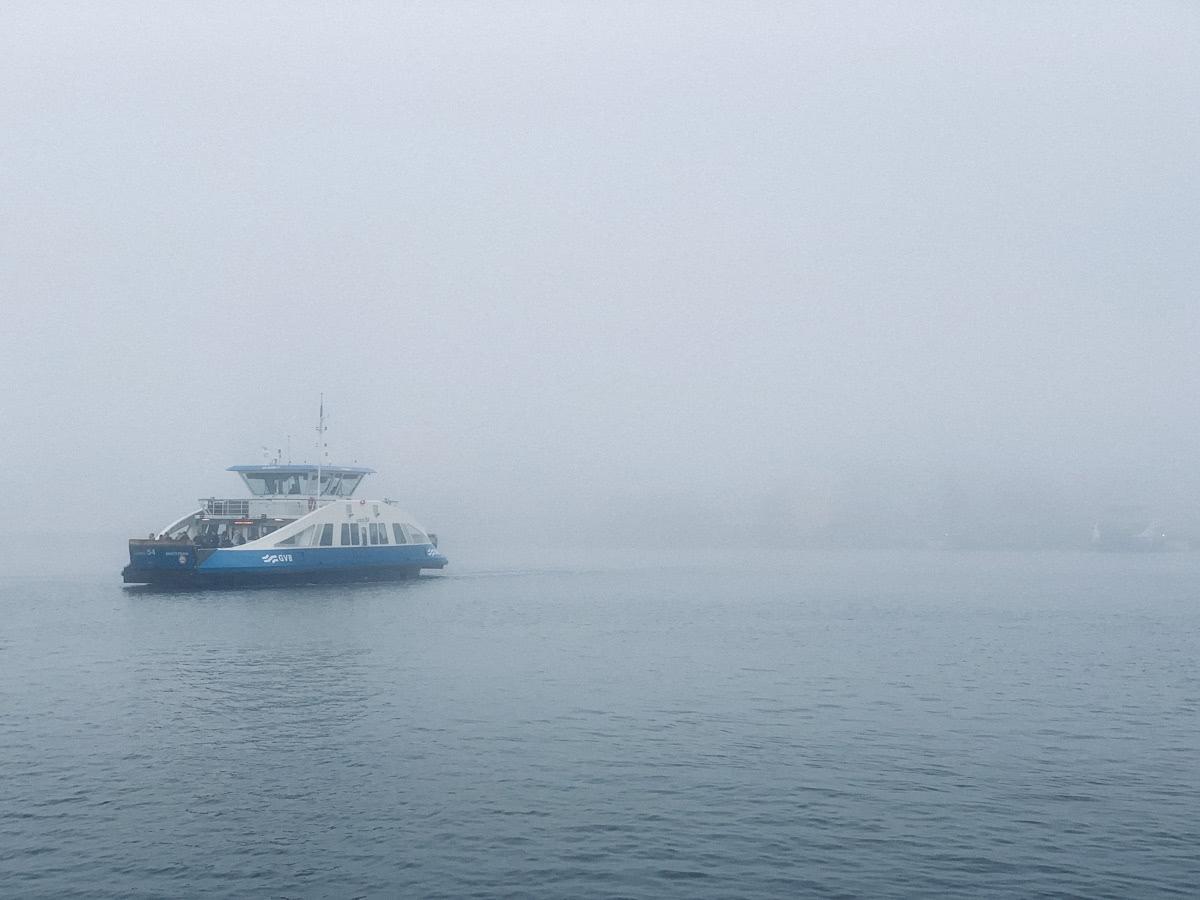 Ferries crossing the Ij