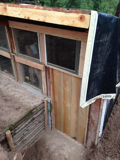 A door is added