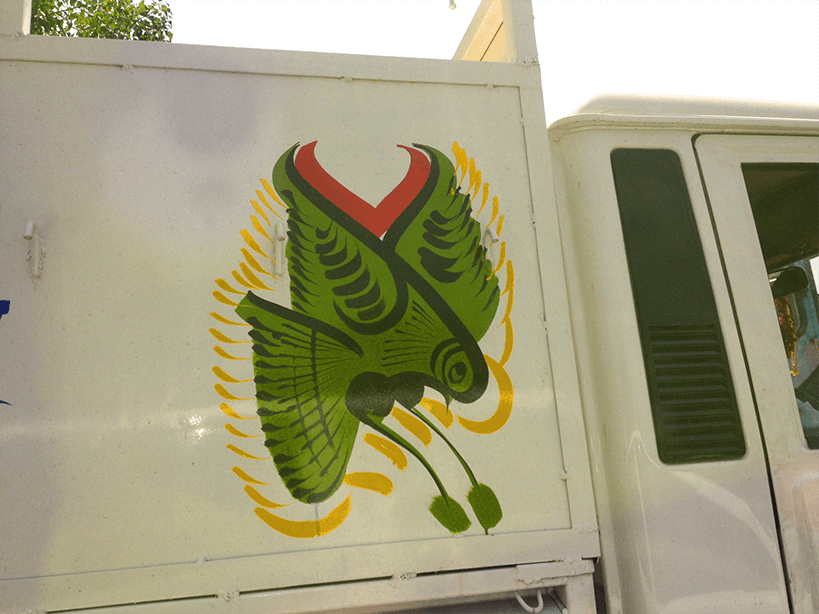 Truck bird painting