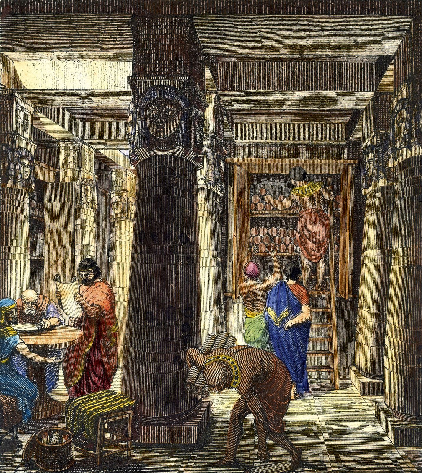 The Library of Alexandria by O. Von Corven