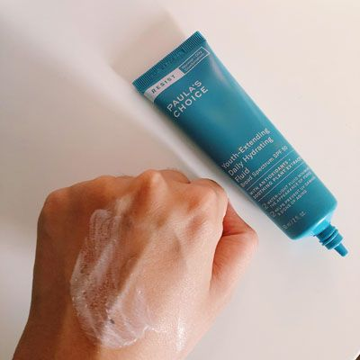 Paula's Choice Youth-Extending Daily Hydrating Fluid SPF 50 Swatch