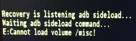 E:Cannot load volume /misc