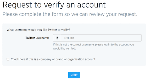 Specify account to verify