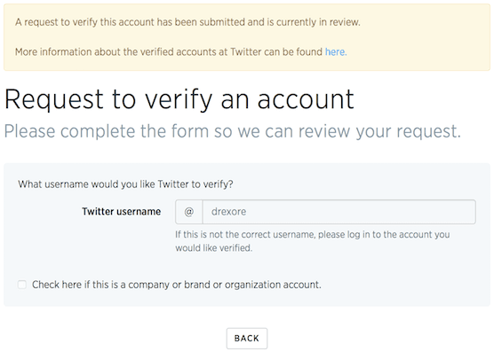 Verifying status