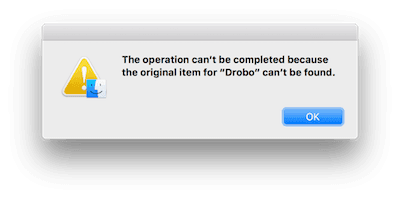 Finder Error Message