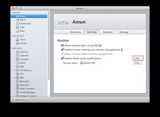 Server.app - Settings
