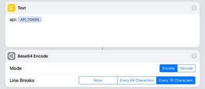 Encoding the API token
