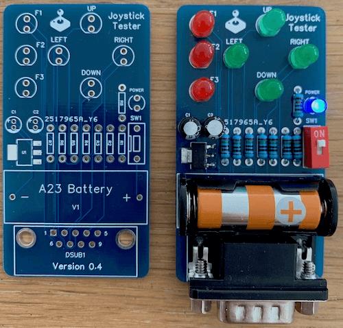 Actual Joystick Tester PCB