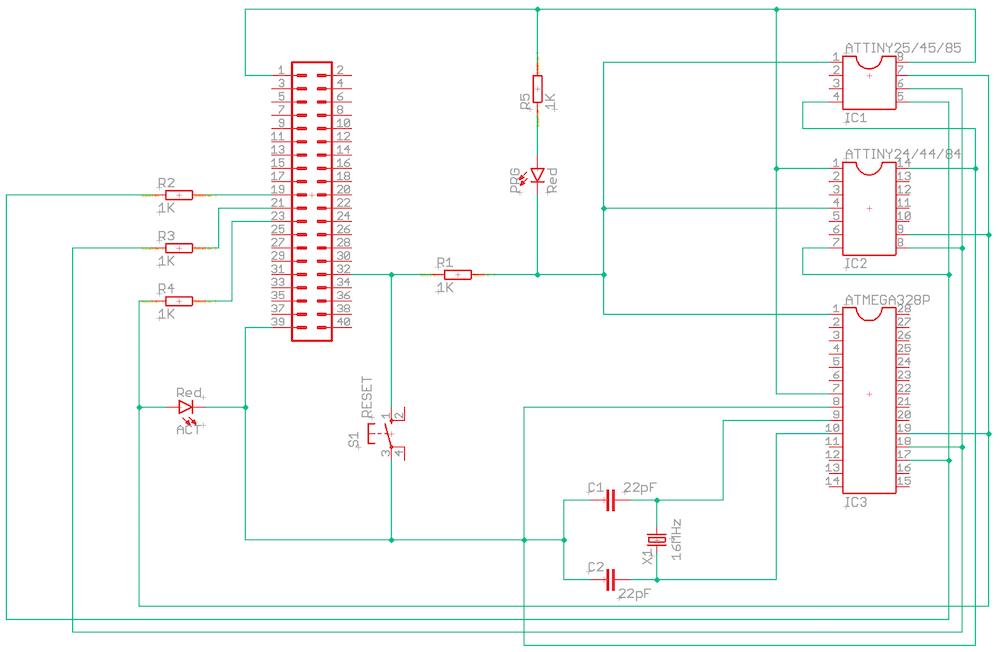 AVR programmer schematic