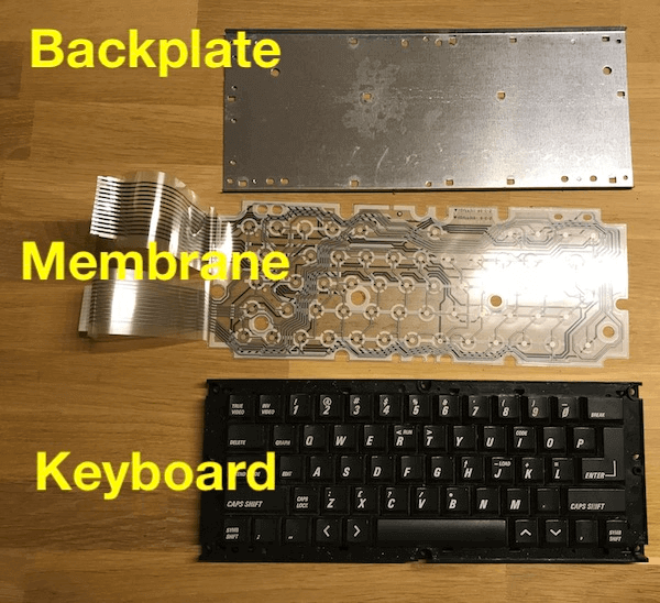 Spare ZX Spectrum 128 +2B keyboard