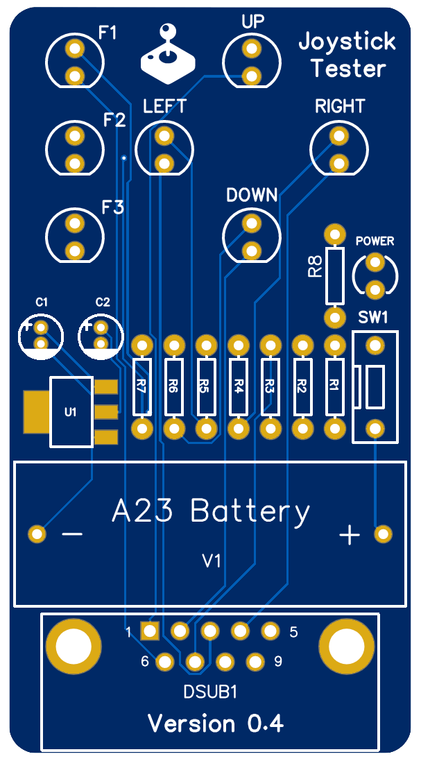 Joystick Tester PCB
