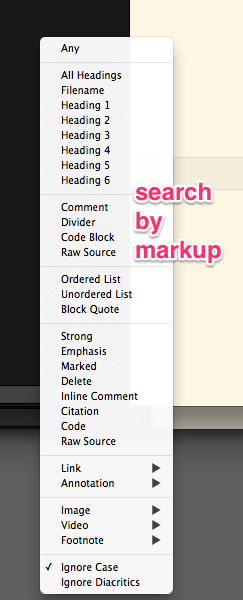Search by Markup
