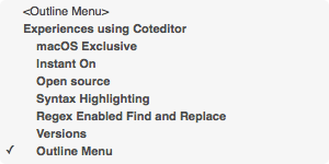 CotEditor Outline Menu