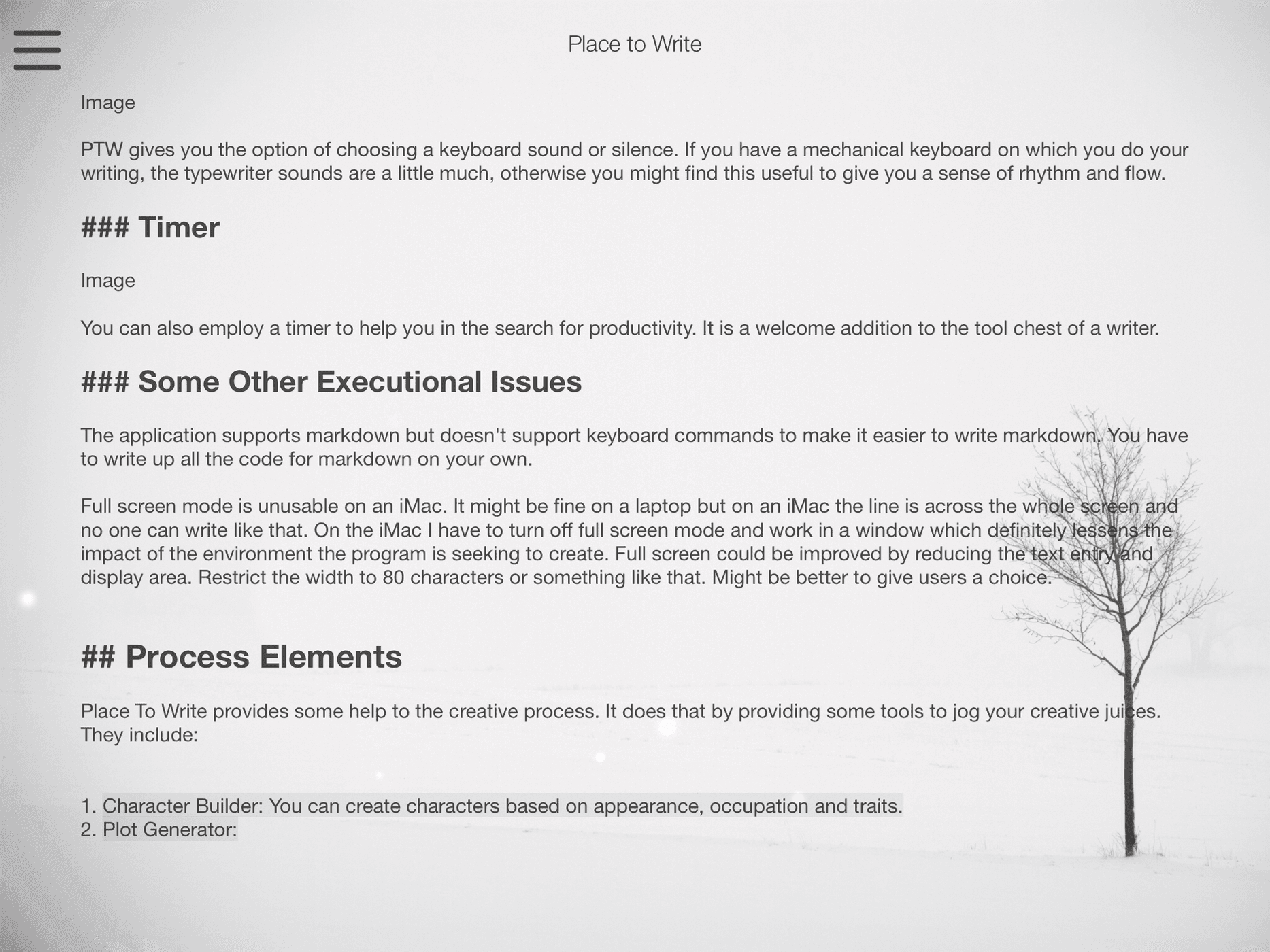 iPad Version of Place To Write