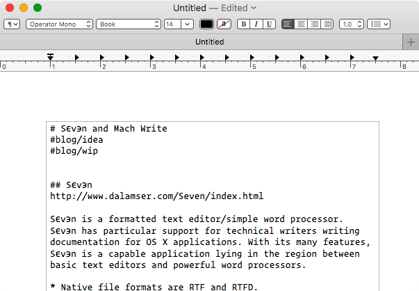 TextEdit Screen