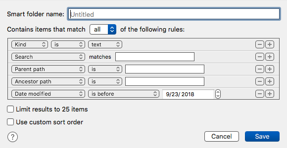 iA Writer SmartFolder Creation