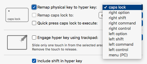 Which key is the hyper key?