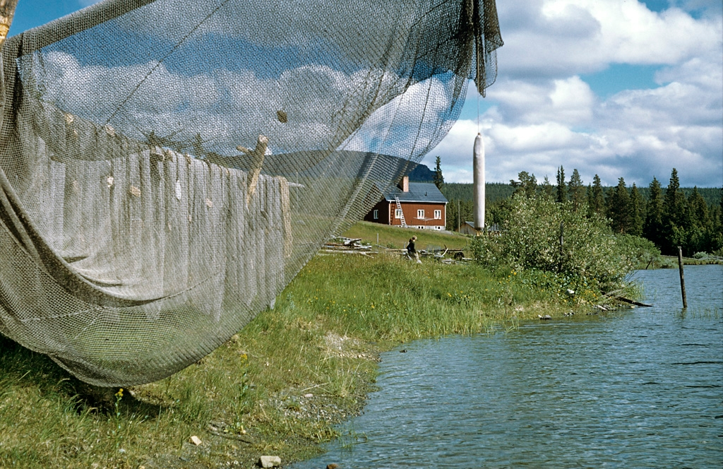fishing nets at lake saggat