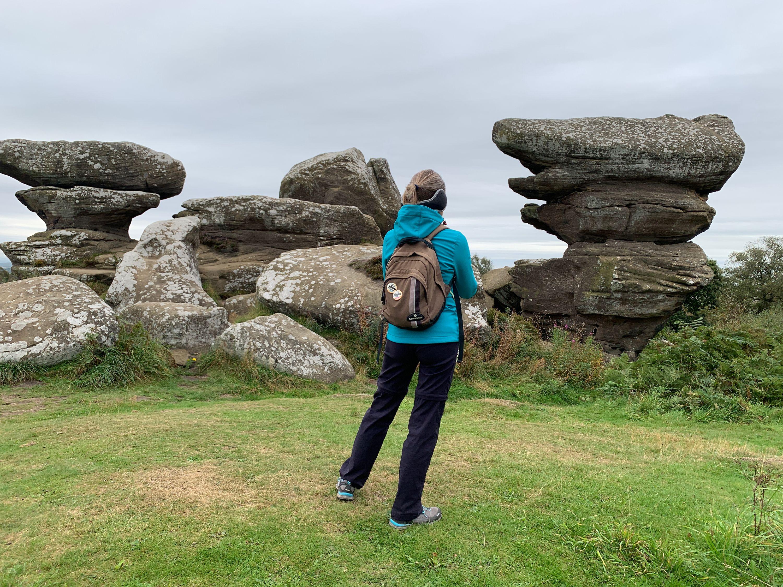 Kate at Brimham Rocks
