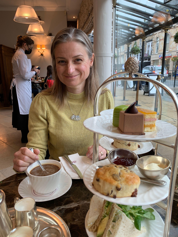 Cream tea at Bettys in Harrogate