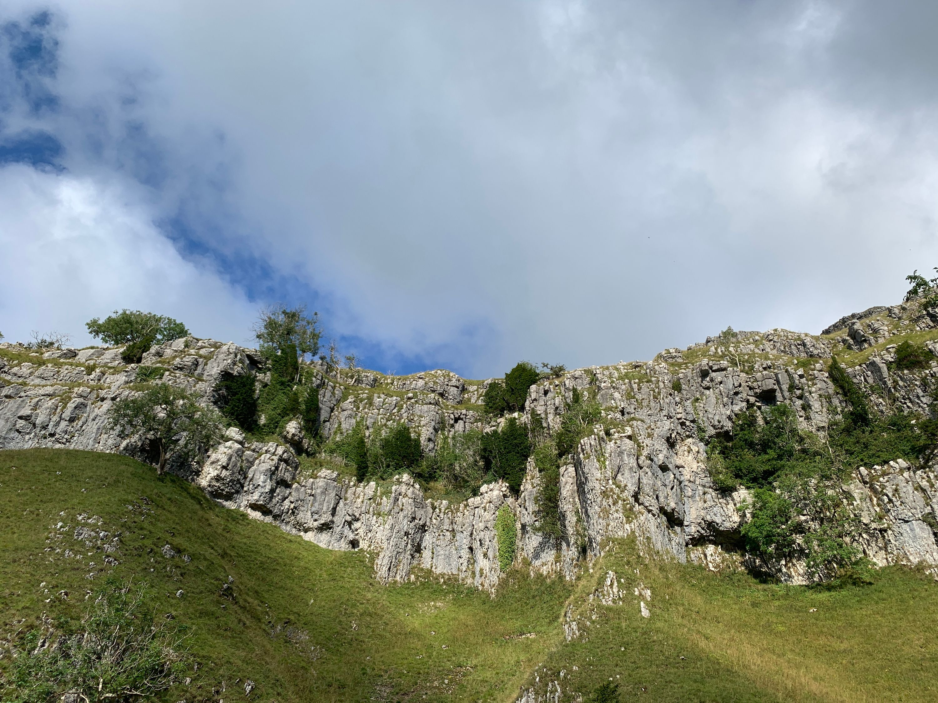 Above you at Gordale Scar