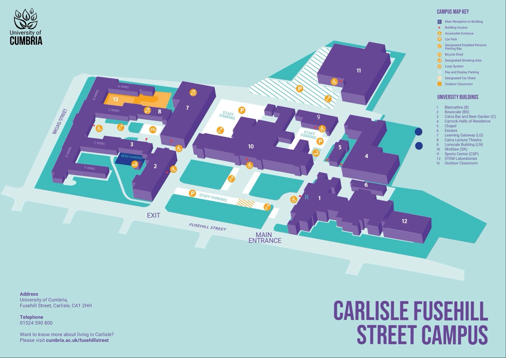 university of cumbria carlisle fusehill street