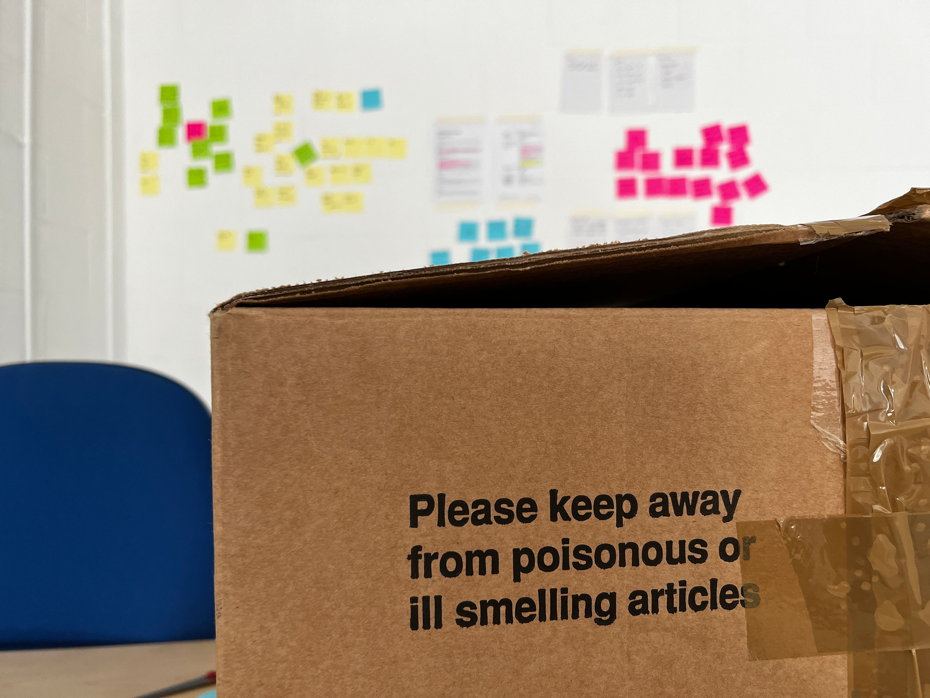 Please keep away from poisonous or ill smelling articles