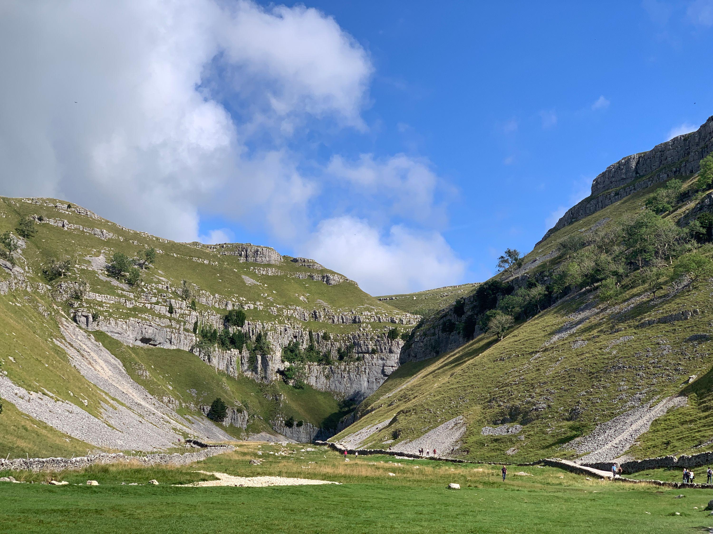 Gordale Scar valley