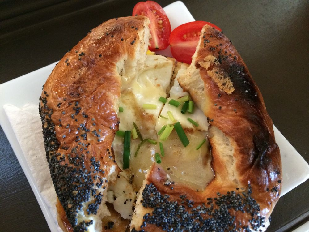 Egg and Cheese Bagel from The Black Duck