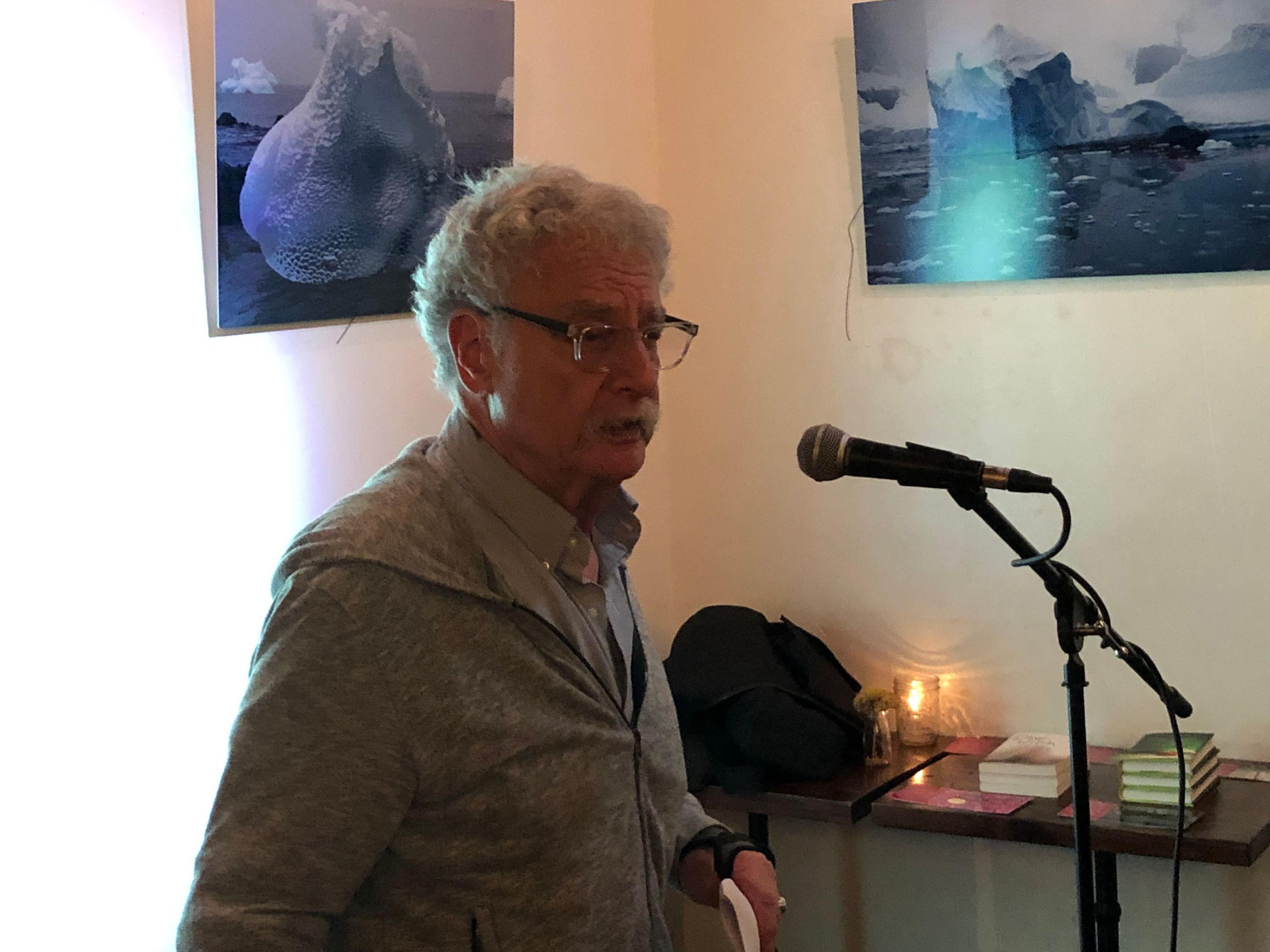 henry sussman at the first tuesdays open mic - oct 1 2019